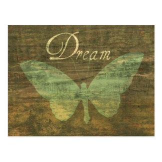 Bronze Dream Butterfly Postcard
