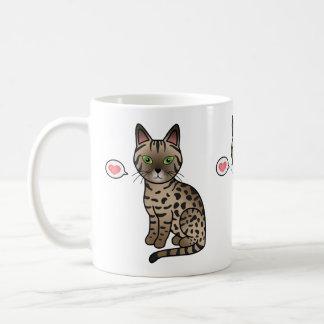 Bronze Egyptian Mau Love Coffee Mug