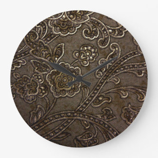 Bronze Floral Relief Clocks