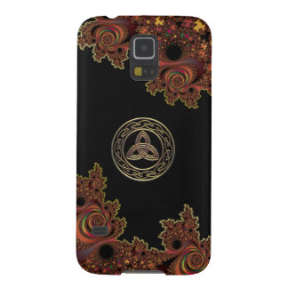 Bronze Fractal and Trinity Knot Galaxy S5 Case