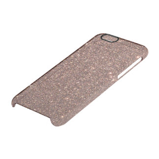 Bronze Glitter Sparkles Clear iPhone 6/6S Case