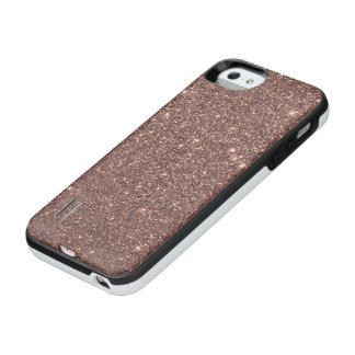 Bronze Glitter Sparkles iPhone SE/5/5s Battery Case
