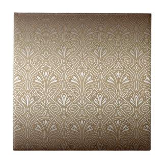Bronze, gold,Art nouveau, art deco, vintage, Ceramic Tile