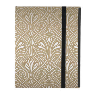 Bronze, gold,Art nouveau, art deco, vintage, patte iPad Case