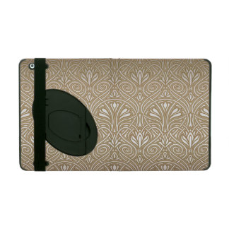 Bronze, gold,Art nouveau, art deco, vintage, patte iPad Folio Case