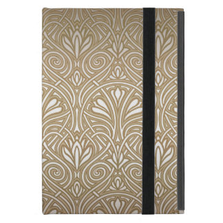 Bronze, gold,Art nouveau, art deco, vintage, patte iPad Mini Cover