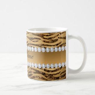 Bronze Gold Faux Foil Zebra Stripes Coffee Mug