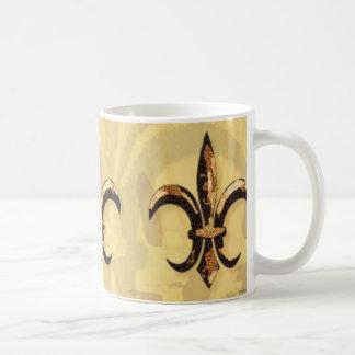 Bronze & Gold Fleur-de-lis Mug