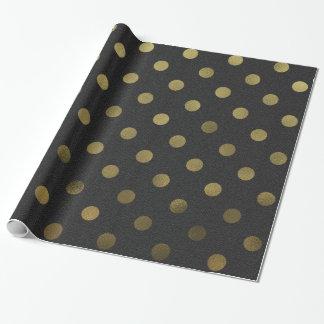 Bronze Gold Leaf Metallic Faux Foil Polka Dot