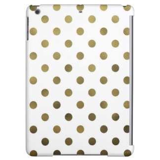 Bronze Gold Leaf Metallic Faux Foil Polka Dot