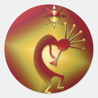 Bronze & Gold Round Sticker