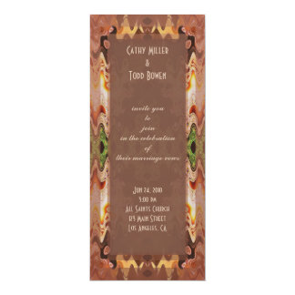 bronze green abstract wedding personalized announcement