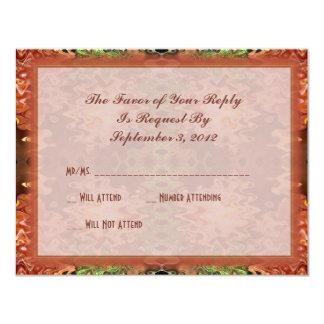 bronze green wedding personalized invitation