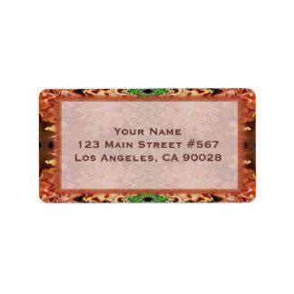 bronze green wedding address label