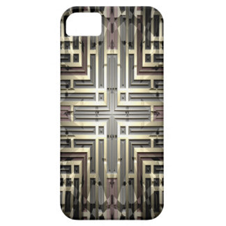 Bronze Grid iPhone SE/5/5S Barely There Case