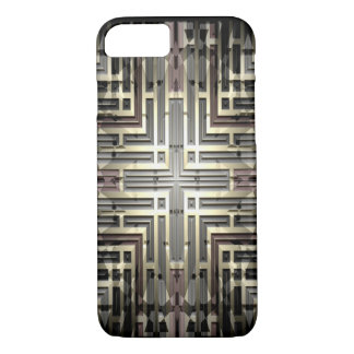 Bronze Grid iPhone X/8/7 Barely There Case