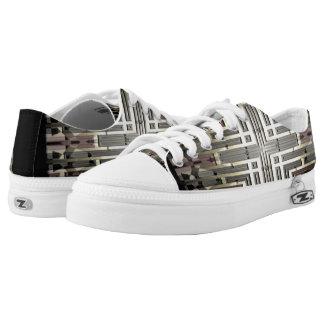 Bronze Grid Low-top Sneakers