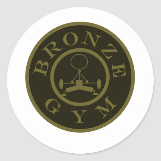 Bronze Gym Classic Round Sticker