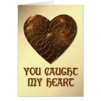 Bronze Heart Card