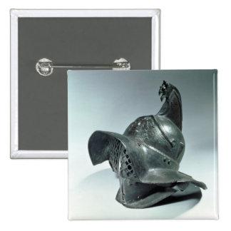 Bronze helmet of Thracian gladiator, Roman, 1st ce 15 Cm Square Badge