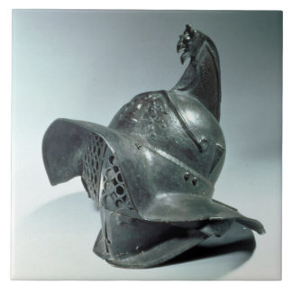 Bronze helmet of Thracian gladiator, Roman, 1st ce Tile