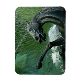 Bronze Horse Fountain Sculpture Magnet