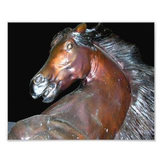 Bronze Horse Sculpture Photo Print