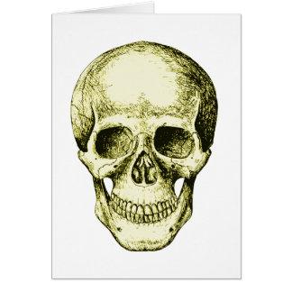 Bronze Human Skull face Card