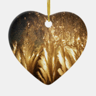 Bronze Ice Ceramic Heart Decoration