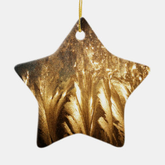 Bronze Ice Ceramic Star Decoration