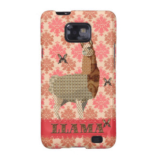 Bronze Llama Floral Damask Case Galaxy SII Covers