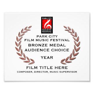 "Bronze Medal Certificate 10"" x 8"" Art Photo"
