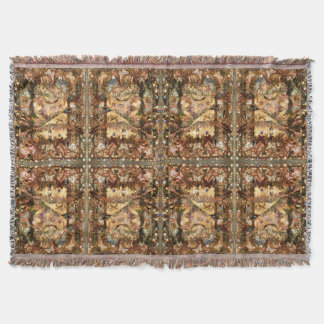 Bronze Metallic Butterfly Dance by Deprise Throw Blanket