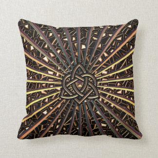 Bronze Metallic Throw Pillow Celtic Trinity Knot