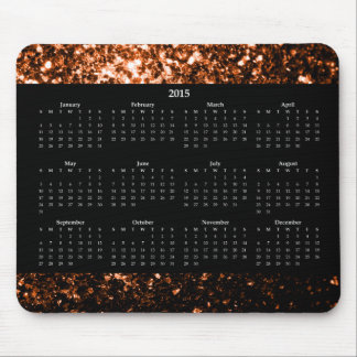 Bronze Orange Brown sparkles Calendar 2015 Mouse Pad