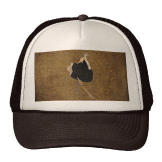 Bronze Ornate Ostrich Lid Trucker Hats