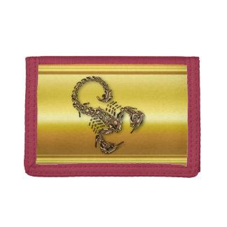 Bronze Poisonous scorpion very venomous insect Trifold Wallets