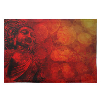 Bronze Red Buddha Statue Sitting Placemat