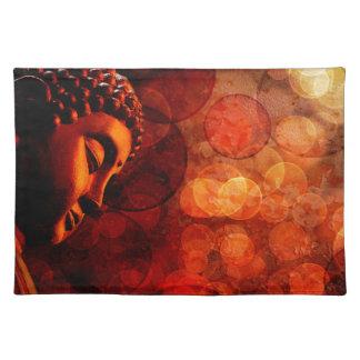 Bronze Red Zen Buddha Statue Meditating Placemat