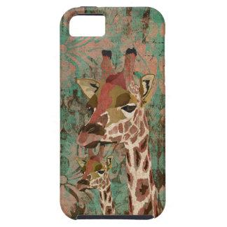 Bronze Rosa  Giraffes  Damask  iPhone Case