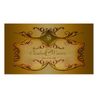 Bronze Scrolls Wedding Favor Tag Pack Of Standard Business Cards