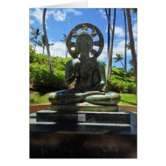 Bronze Seated Buddha, Waikoloa, Hawaii Card