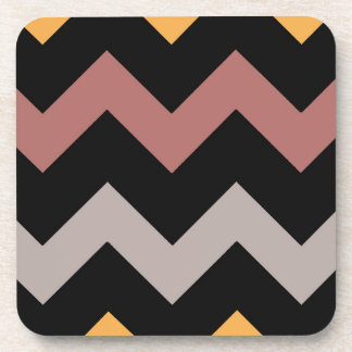 Bronze Silver and Gold on Black Coaster