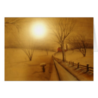 Bronze Snow Scene Card