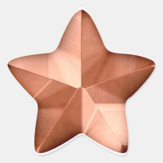 Bronze Star Sticker