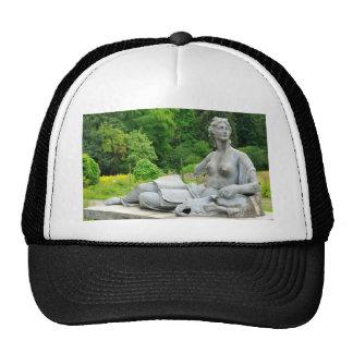 Bronze statue depicting woman cap