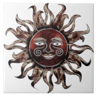 Bronze Sun Fractal Tile