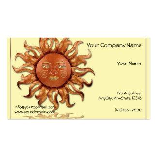 Bronze Sun on Cream Background Business Card