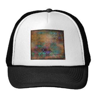 Bronze, Teal, Purple Abstract Cap