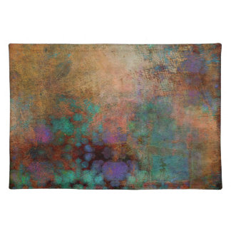 Bronze, Teal, Purple Abstract Placemat